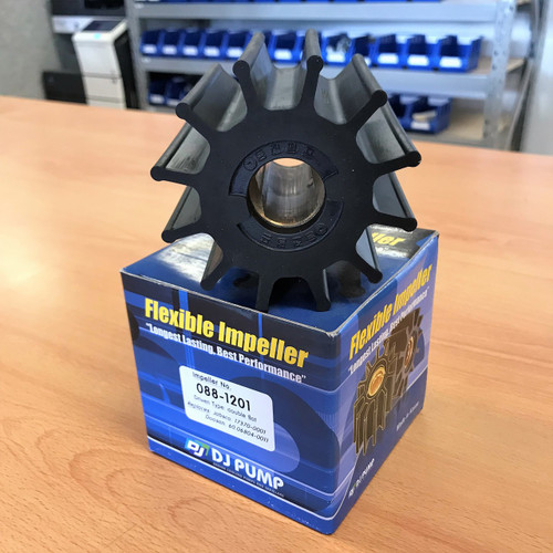088-1201 DJ Pump Impeller; Replaces Jabsco 17370-0001; Doosan 6006804-0011