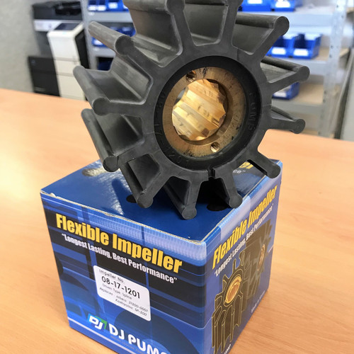 08-17-1201 DJ Pump Impeller; Replaces Jabsco 31500-0001; Kashiyama SP-500