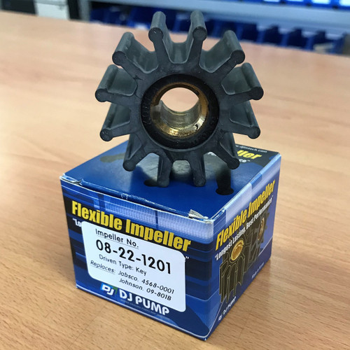 08-22-1201 DJ Pump Impeller; Replaces Jabsco 4568-0001; Johnson 09-801B