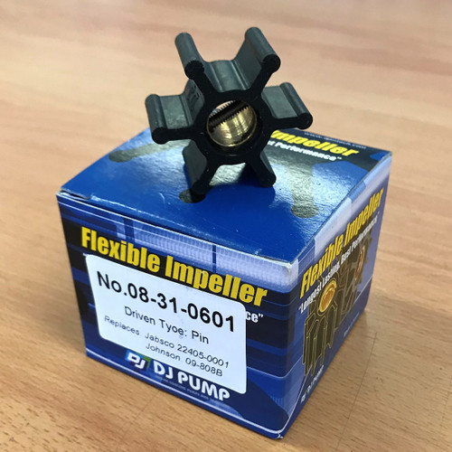 08-31-0601 DJ Pump Impeller; Replaces Jabsco 22405-0001; Johnson 09-808B; Onan 0132-0311; 08-31-0901