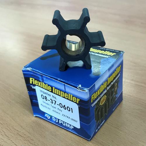 08-37-0601 DJ Pump Impeller; Replaces Jabsco 22799-0001