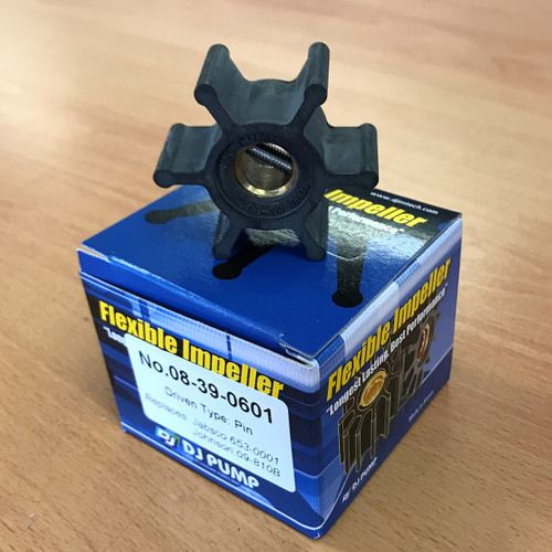 08-39-0601 DJ Pump Impeller; Replaces Jabsco 653-0001, 186530001; Johnson 09-810B; JP09-390601