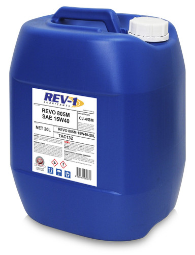 REV-1 Revo 805M 15W-40 CJ4 Diesel Engine Oil 20L