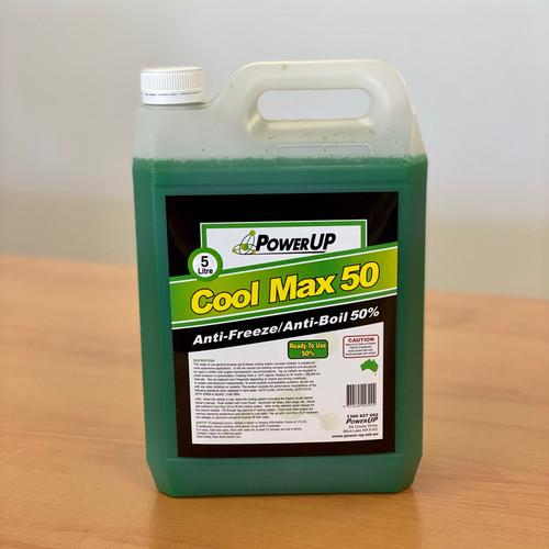 Coolant Pre-Mixed 5L; PowerUp CoolMax 50 Anti-Freeze / Anti-Boil 50%