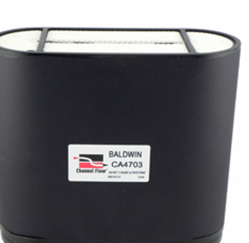CA4703 Baldwin Channel Flow Air Element - Replaces: John Deere AL119839, AL172780 / Donaldson P606119 / Fleetguard AF26157 / SF-Filter SL82001 / Wix 46937