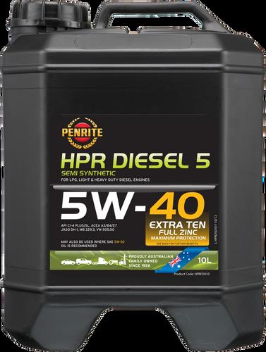 Penrite HPR Diesel 5 5W-40 10 Litres