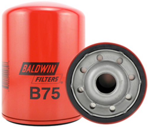 B75 Baldwin Full-Flow Lube Spin-on ReplacesCaterpillar 9N6007; Isuzu 1-13240-122-0