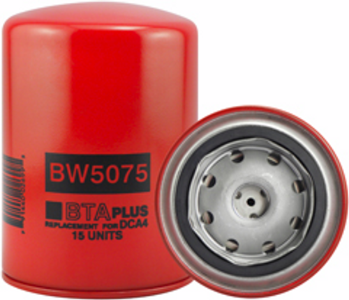 BW5075 Baldwin Coolant Spin-on with BTA PLUS Formula Replaces Cummins 3318318; Fleetguard WF2075