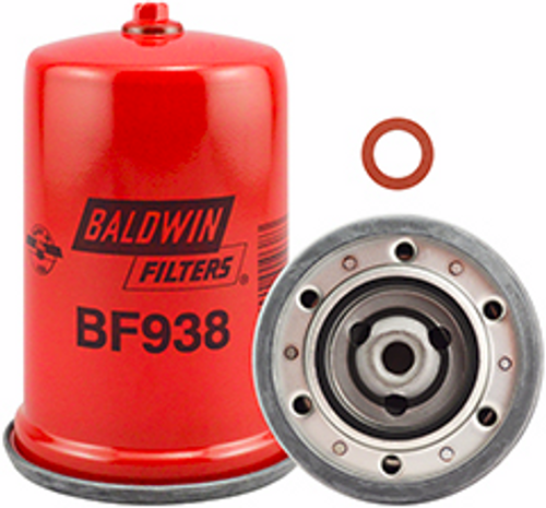 BF938 Baldwin Primary Fuel Spin-on with Drain Replaces Onan 122B325