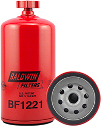 BF1221 Baldwin Fuel/Water Separator Spin-on with Drain Replaces Fleetguard FS1221