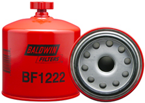 BF1222 Baldwin Fuel/Water Separator Spin-on with Drain Replaces Ford E8TZ-9N184-A
