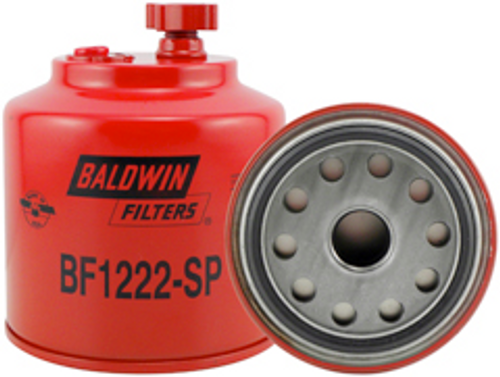 BF1222-SP Baldwin Fuel/Water Separator Spin-on with Drain and Sensor Port Replaces Ford E8TZ-9N184-A
