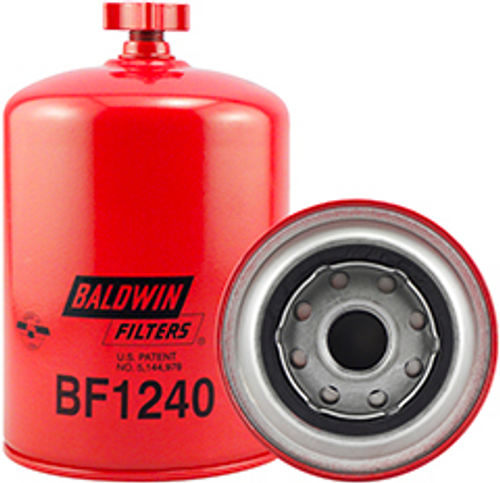 BF1240 Baldwin Fuel/Water Separator Spin-on with Drain Replaces John Deere AT77587