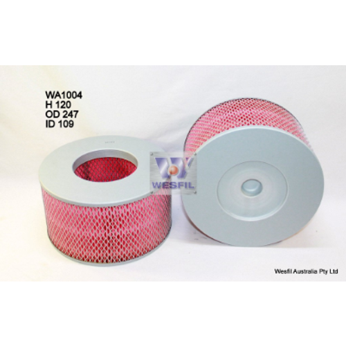 WA1004 Wesfil Air Filter; ; Replaces Ryco A1402