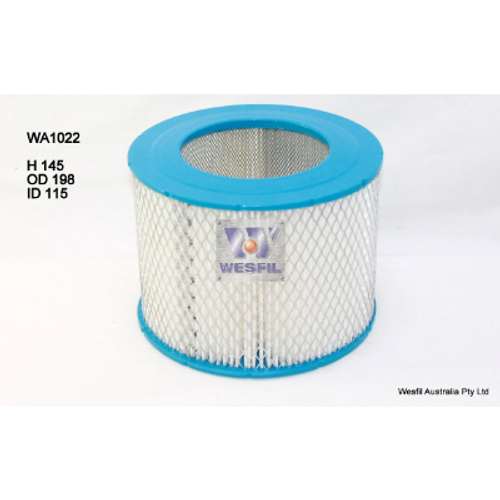 WA1022 Wesfil Air Filter; Replaces Ryco A1335