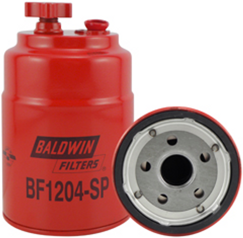 BF1204-SP Baldwin Secondary Fuel/Water Separator Spin-on with Drain and Sensor Port