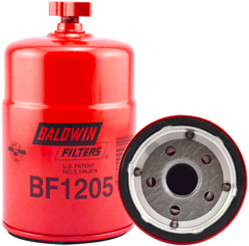 BF1205 Baldwin Primary Fuel/Water Separator Spin-on with Drain Replaces Ford E7HZ-9N184-B, E8HT-9J288-AA