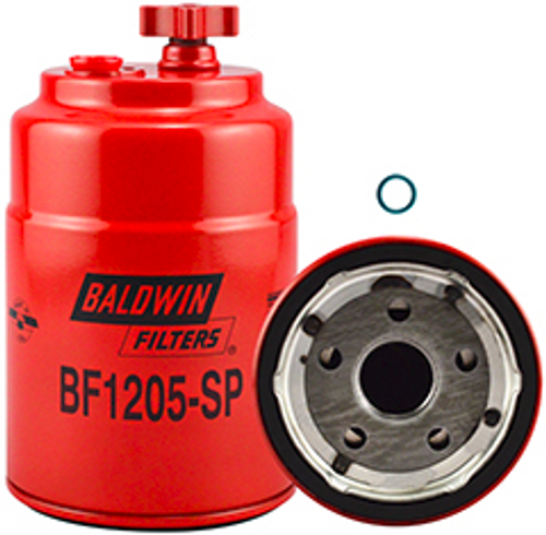 BF1205-SP Primary Fuel/Water Separator Spin-on with Drain and Sensor Replaces Ford E7HZ-9N184-B, E8HT-9J288-AAPort