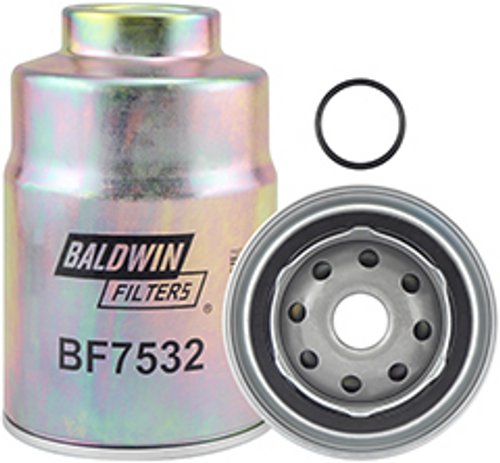 BF7532 Baldwin Fuel/Water Separator Spin-on with Threaded Port Replaces Nissan 16403-05E01, 16403-59E00, 16405-05E01