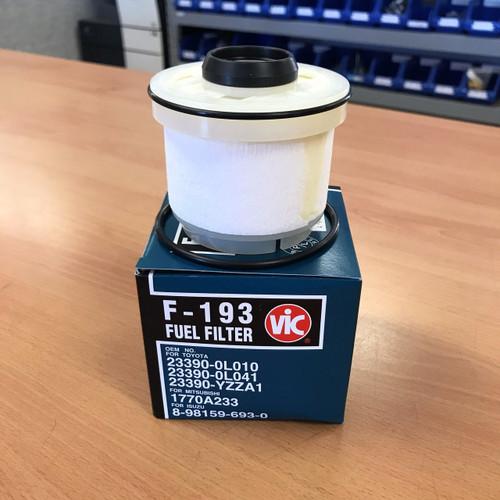 F193 Vic Fuel Filter ; Replaces Toyota 233900L010, 122800L041, WCF31, R2619P