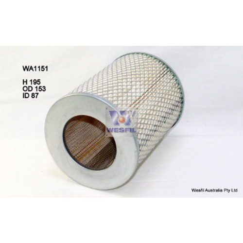 WA1151 Wesfil Air Filter; to suit Toyota