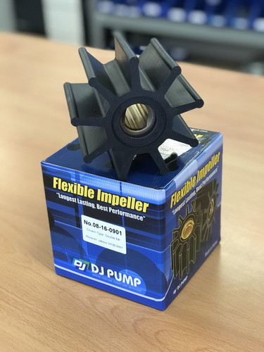 08-16-0901 DJ Pump Impeller; Replaces Jabsco 18786-0001