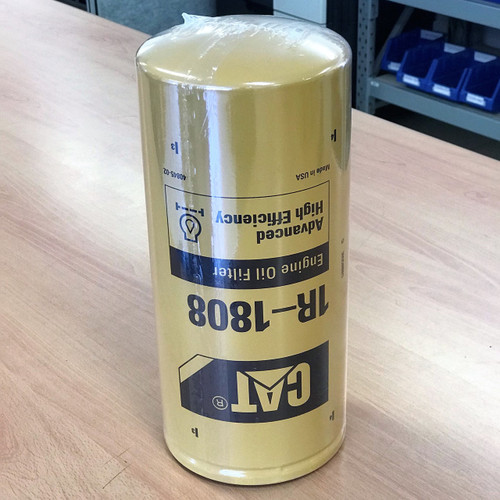 1R-1808 CAT Oil Filter; Genuine Part; Advanced High Efficiency; 1R1808