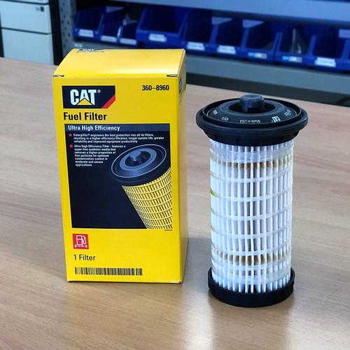 360-8960 CAT Fuel Filter; Ultra High Efficiency; Replaces Perkins 4461492