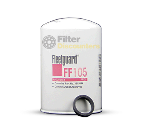 FF105 FLEETGUARD FUEL FILTER WITH FILTER DISCOUNTERS LOGO
