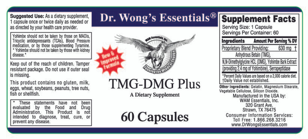 TMG-DMG Plus label information