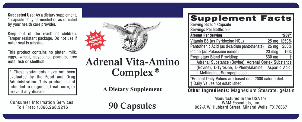 Adrenal Vita-Amino Complex: label information