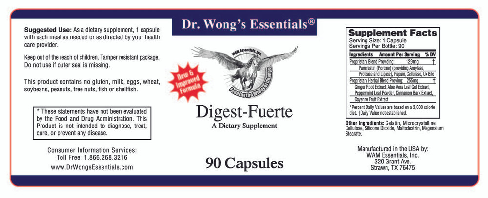 Digest Fuerte label information