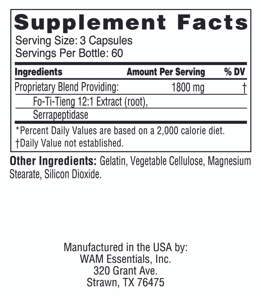 Fo-Ti-Tieng: supplement facts panel