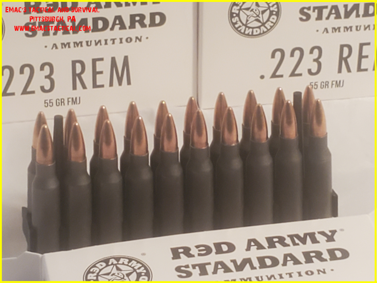 223 55 gr FMJ AR15 Red Army Standard Ammunition -  20 Rounds