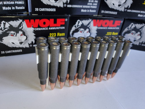 223 5.56x45 Ammo 55gr FMJ Wolf WPA Military Classic 200 Rounds