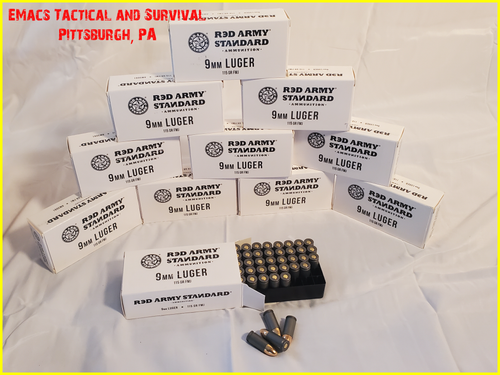 9MM 115gr Red Army Standard Ammunition 1 000 Case Full Rounds