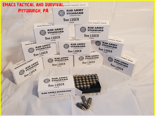 9MM 115gr Red Army Standard Ammunition 200 Rounds 4x Boxes
