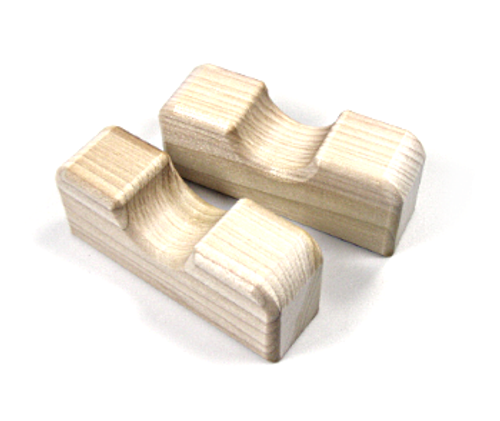 Wooden rod holders to keep rod blank off of work surface while wrapping & finishing, 1 pair. Rod Rests