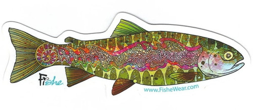Fishe 'Troutragous Rainbow' Stickers