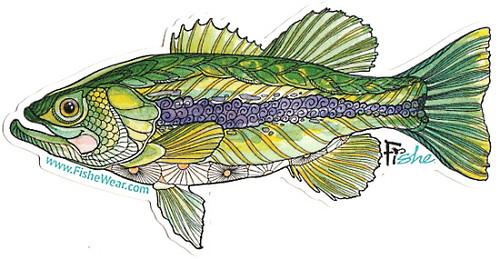 Fishe 'Basstacular Bass' Stickers