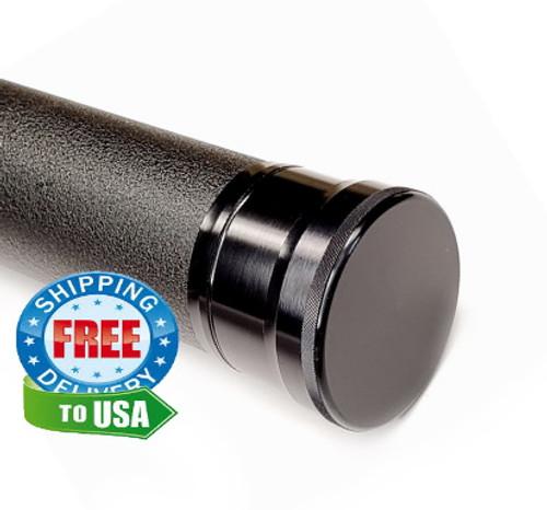 "Black Guard Premium 'Limited Edition' 1-5/8"" Dia. Rod Case Black Finish for 2pc Rods"