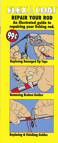 An illustrated guide to repairing your fishing rod. Flex Coat Repair Booklet