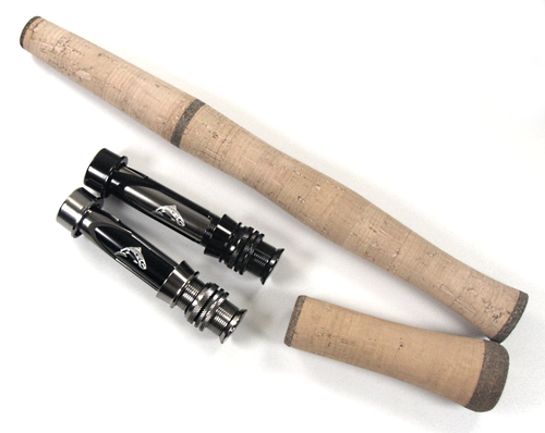 Two piece switch grip set with Y All Metal reel seat. Switch fly rod handle kit