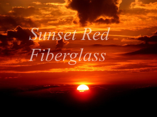 A new affordable fiberglass fly rod blank. Sunset Red Fiberglass Blanks