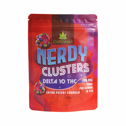 Curevana Delta 10 THC Infused Nerdy Gummies (750MG)