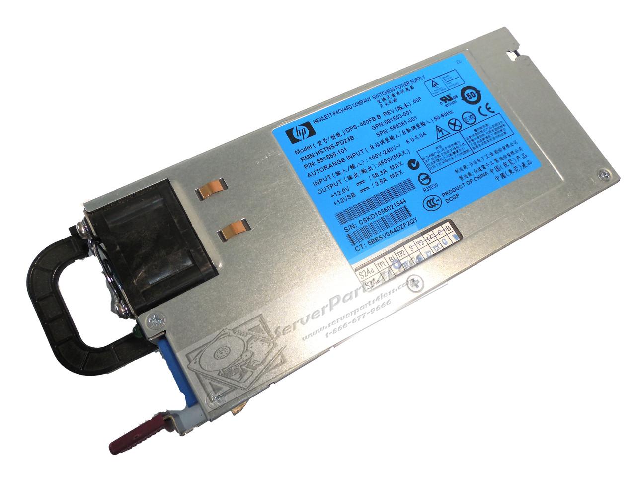 HP 660184-001 Platinum Plus Hot Swap 460W Switching Power Supply Free Ship