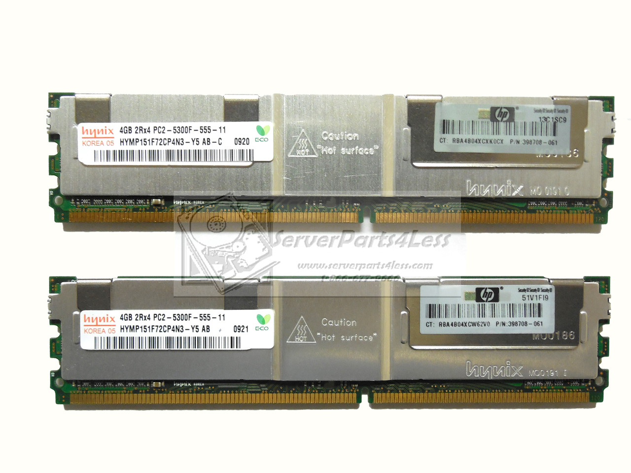 2X4GB 397415-B21 PC2-5300F DDR2 SDRAM ECC MEMORY  PROLIANT 398708-061 HP 8GB