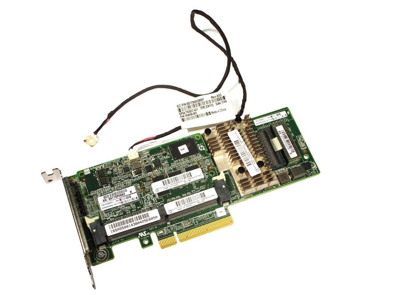 726821-B21 HP Smart Array P440//4GB FBWC 12Gb 1-port SAS Controller 749797-001 US