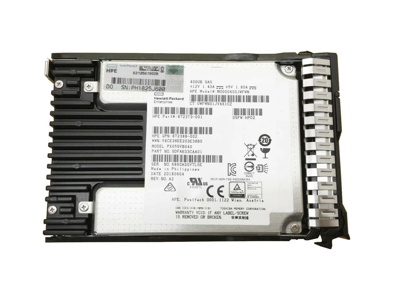 HP 800GB 12G SAS Mixed Use-3 SFF SC SSD