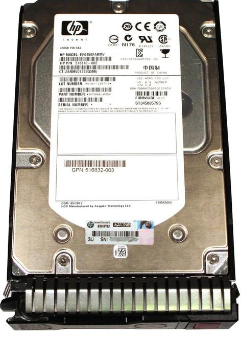 "516828-B21517354-001HP 600GB 6G SAS 15K LFF 3.5/"" Hard Drive"